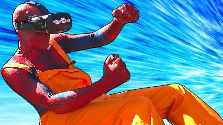 Spiderman Car Racing! Spider-man VR Glasses at Real Car Race - Superhero...