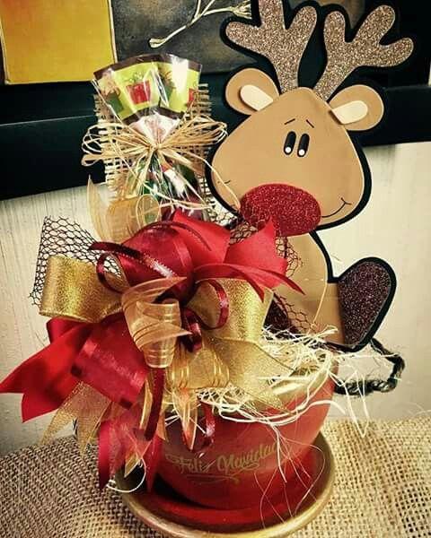 Pin de diana gonzalez en manualidades pinterest arreglos arreglos navide os y navidad - Ideas para arreglos navidenos ...