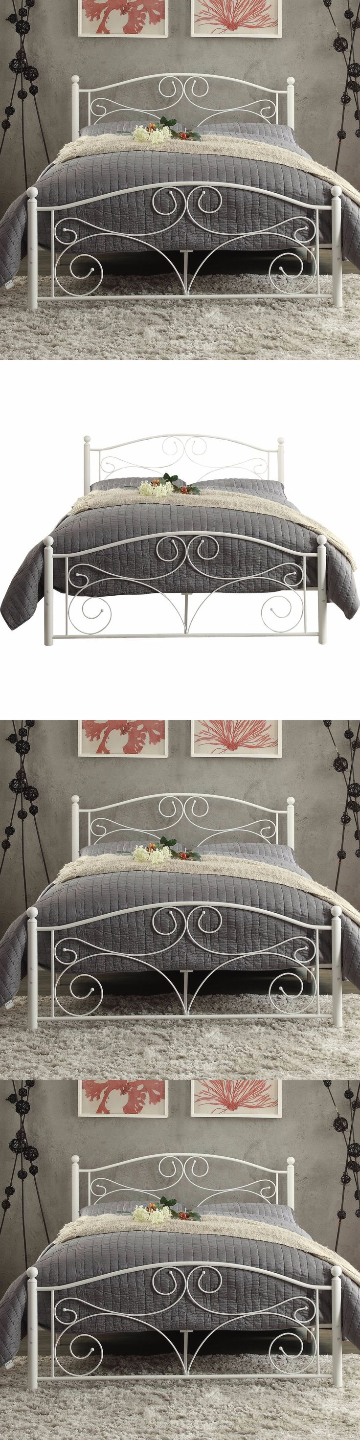 Beds and Bed Frames 175758: Wrought Iron Bed Frame Full Size Panel Headboard Footboard Set Bedroom Furniture -> BUY IT NOW ONLY: $198 on eBay!