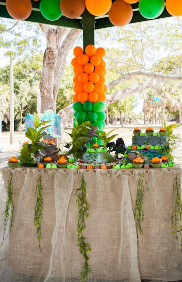 Jurassic park dinosaur boy birthday party planning ideas decorations birthday party ideas - Deco boy ...