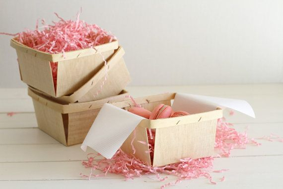 18 Quart Wood Berry Baskets by FancyThatLoved on Etsy