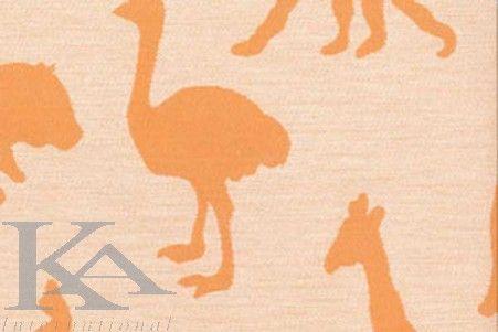 Tesatura copii ZOO NARANJA din colectia ANIMAL PARADE. Tesatura copii pentru copii in stil Modern, cu desen Animale si de culoare Portocaliu.