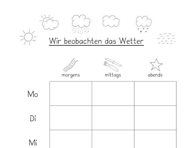Frau Locke: Das Wetter beobachten - 1. Klasse