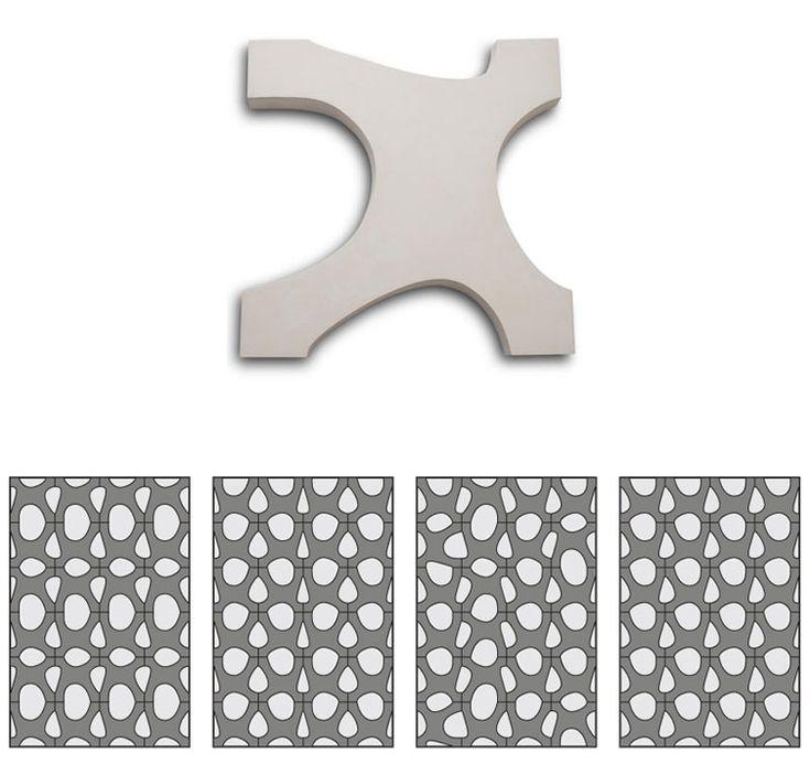 renata rubim ellos paving tiles 2 - Matchstick Tile Garden Decoration