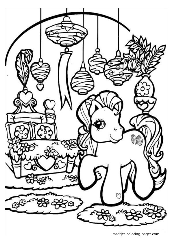 Free Printable My Little Pony Generation 1 Coloring Sheets