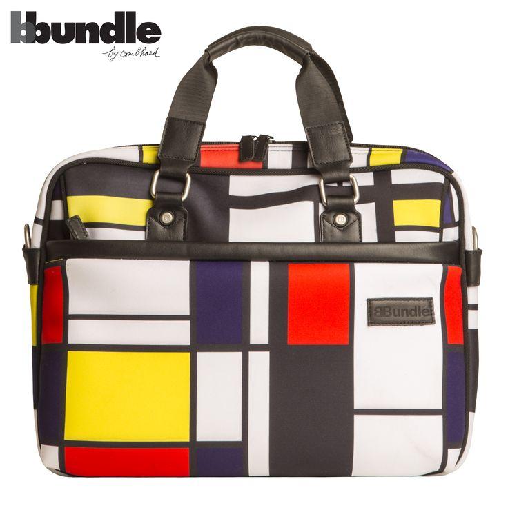 BBundle by Combhard, Wallstreet bag  neoprene and leather