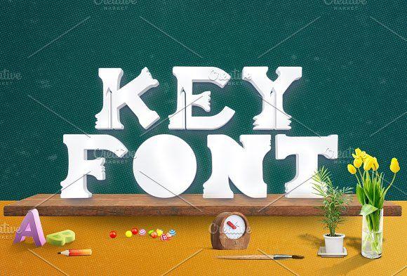 Keyfont by Magoo Studio on @creativemarket