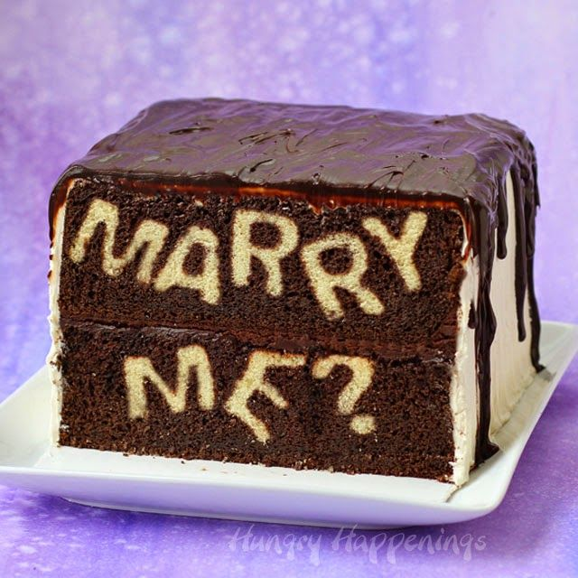 A Totally Unique Way to Propose - Marry Me? Reveal Cake