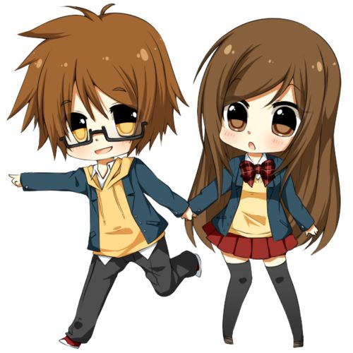 cute anime couple | Cute anime chibi couples pictures 1 ...