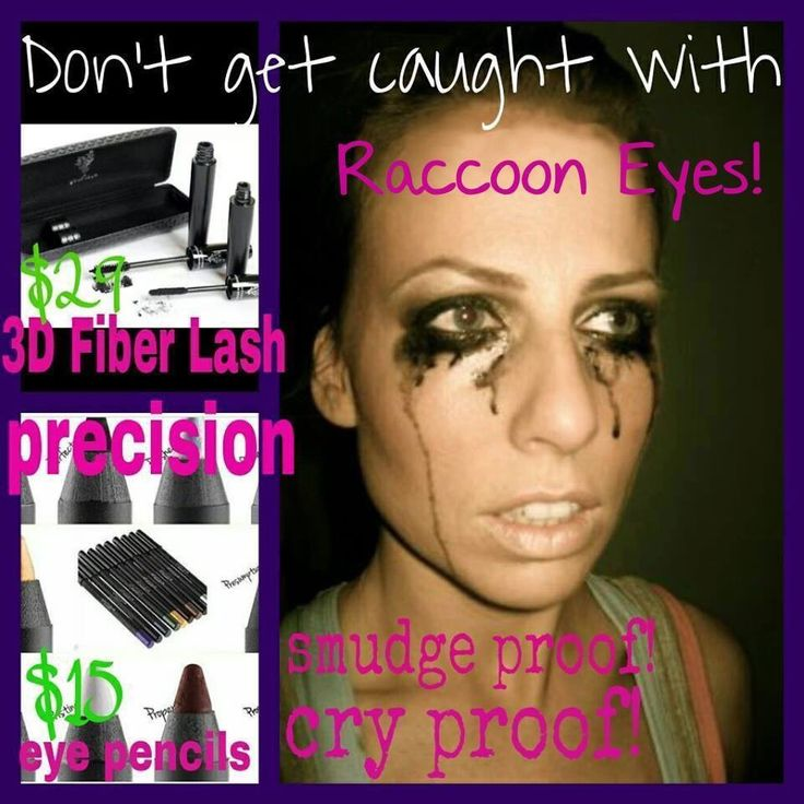 Uh-oh! Someone didn't wear their Younique products! Don't get caught with raccoon eyes! Our 3D Fiber Lash Mascara+ and Moodstruck Precision Eye Pencils are smudge proof AND cry proof! Get yours through https://www.youniqueproducts.com/RachelHeke/party/3887550/view party link today! <3