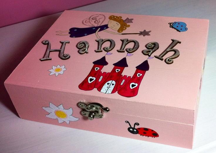Princess and her castle keepsake box