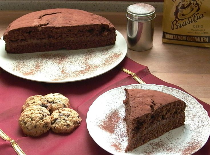 Torta al cioccolato con ripieno di crema al caffè