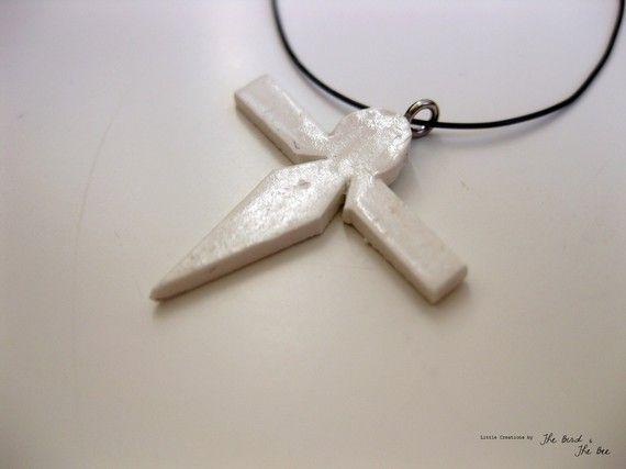 Paper Bird Pendant. From Miyazaki's film, Spirited Away. $4.50 #jewelry