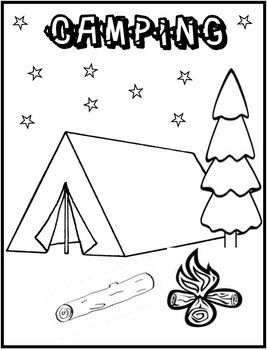 Add To Your Camping Units With This Free Camping Coloring Page
