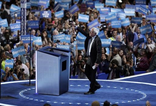 Sanders Uses DNC Speech to Back Clinton but His Supporters Still Need Some Convincing  PHILADELPHIA  Democratic 2016 runner-up Bernie Sanders threw his support behind presumptive nominee Hillary Clinton on the biggest stage he could Monday night  but it remains unclear whether his supporters will follow his lead.  The former candidate was met by more than a minutes worth of thunderous applause and cheers upon taking the stage struggling to begin his speech to the Democratic National…