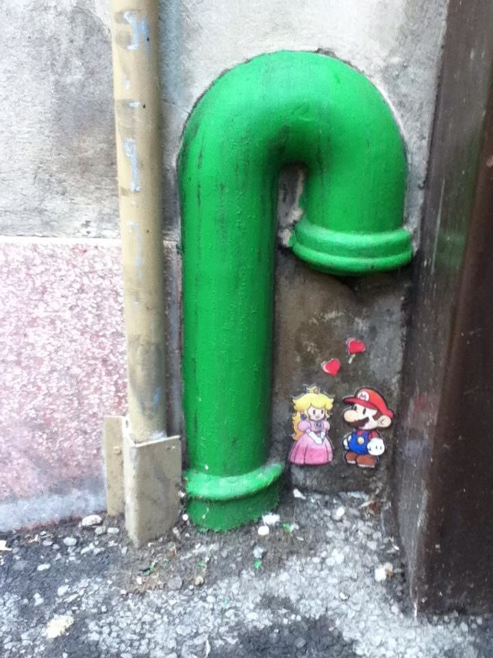 Super Mario #streetart   Found this street art yesterday - awesome Find Crazy stuff to Pin here: http://don.greymafia.com/?p=25949