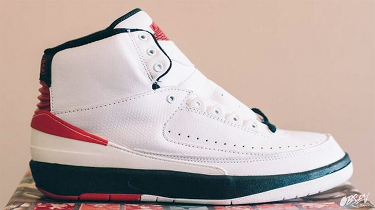 Air Jordan 2 Retro 1993 Release - White/Red/Black