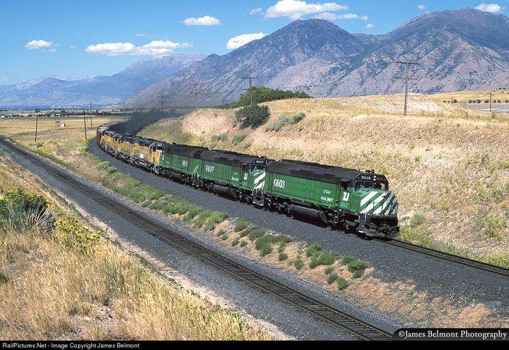 RailPictures.Net Photo: UTAH 6608 Utah Railway Company EMD F45 at Mapleton, Utah by James Belmont