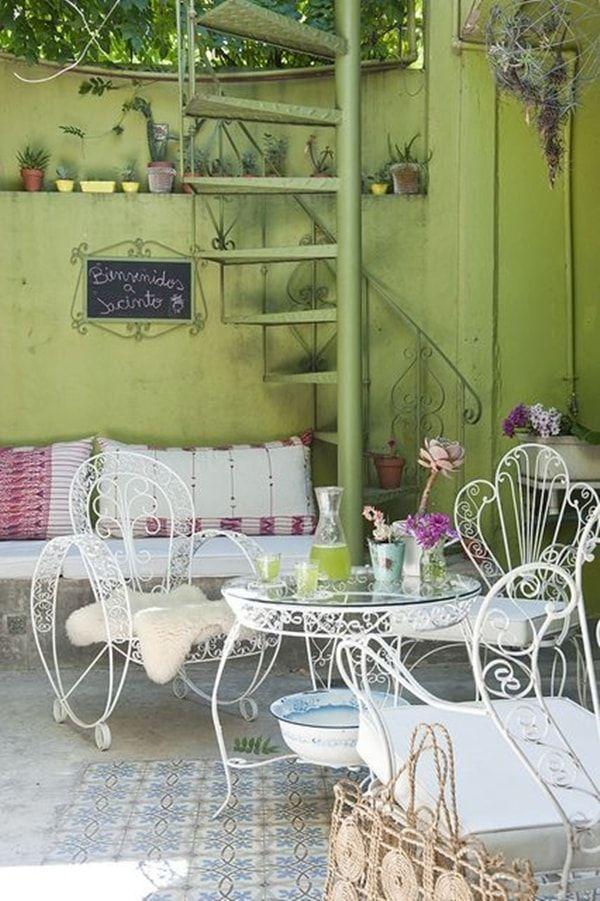 M s de 1000 ideas sobre sillas de hierro forjado en - Muebles de hierro forjado para jardin ...