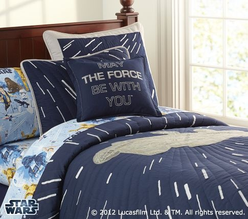 Star Wars™ Millennium Falcon™ Quilted Bedding   Pottery Barn Kids