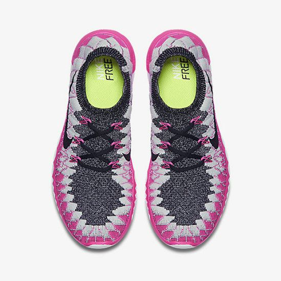 97a2585fe22 Nike Free 3.0 Flyknit Black Pink Pow Pure Platinum