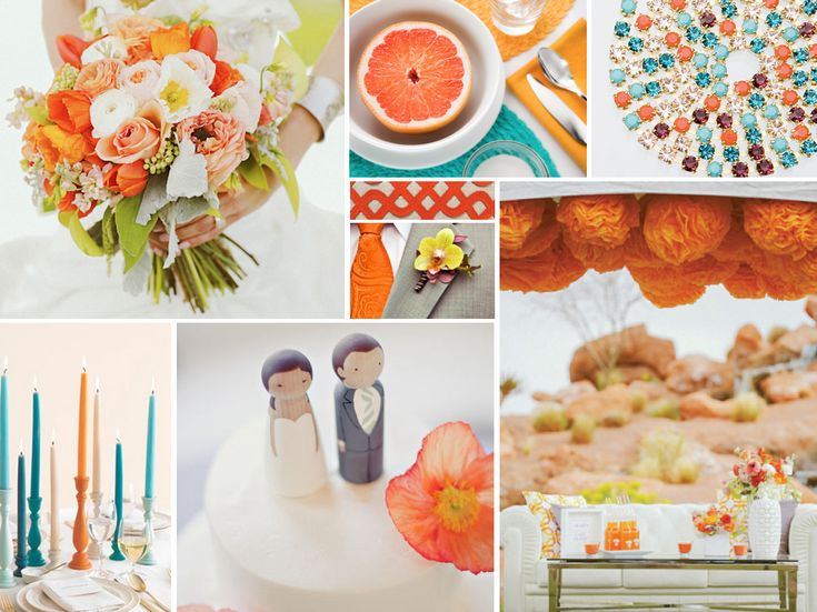 25 Best Teal Orange Wedding Images On Pinterest Marriage Orange Wedding Cakes And Wedding