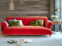 Soufflé sofa in our Lava plush velvet