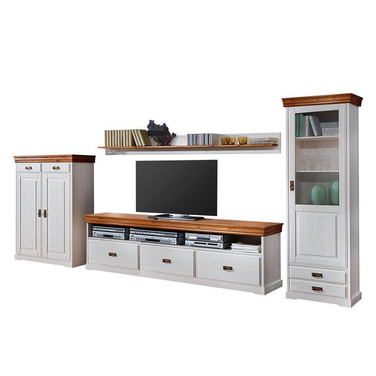 wohnwand formentera ii 4 teilig kiefer massiv landhaus classic jetzt bestellen unter https. Black Bedroom Furniture Sets. Home Design Ideas