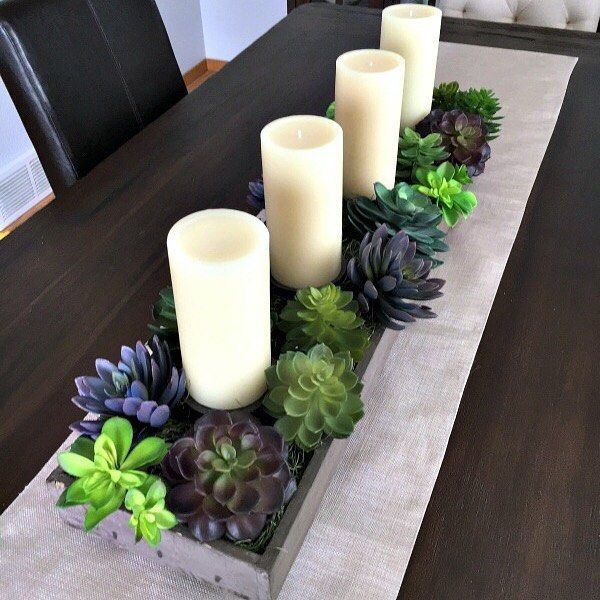 Set Your Table This Spring With A DIY Succulent Garden Tap The Link In Our Dining CenterpiecesDining