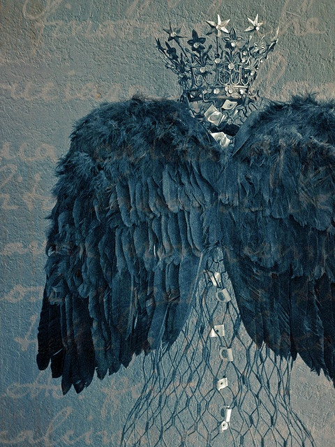 Grey wings and a crown...