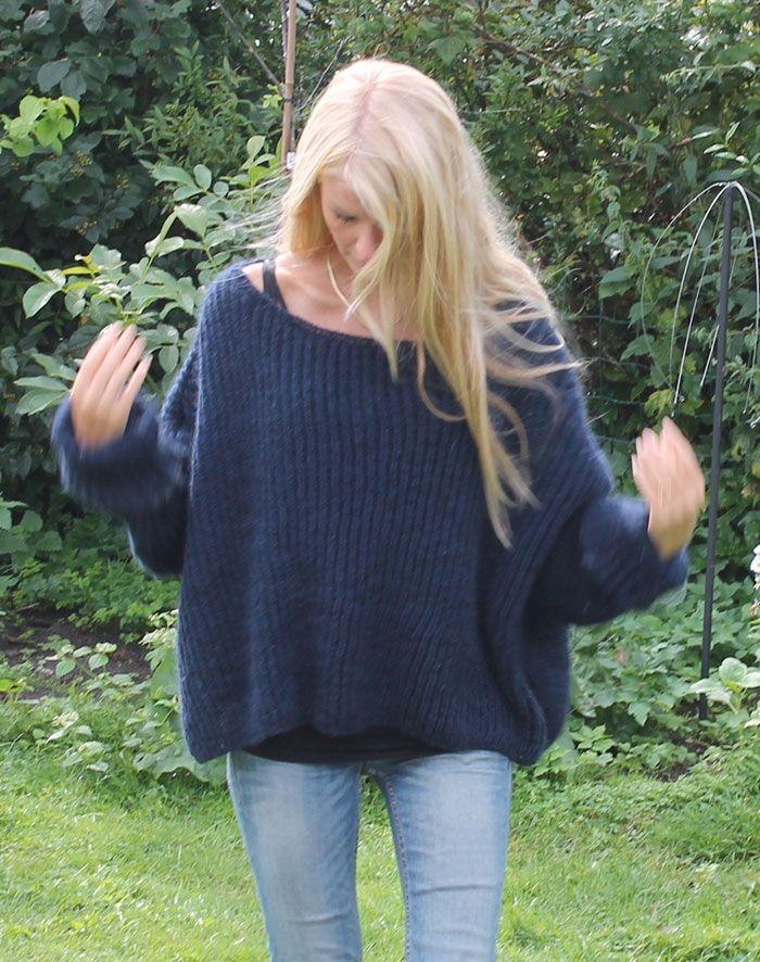 Strikkeopskrift Havskum sweater