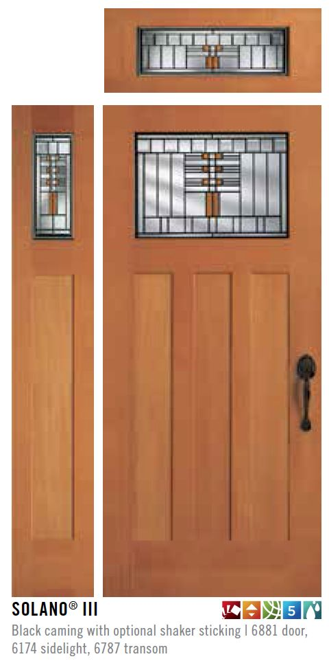 Simpson Door Solano III with optional Sidelight & Transom ...