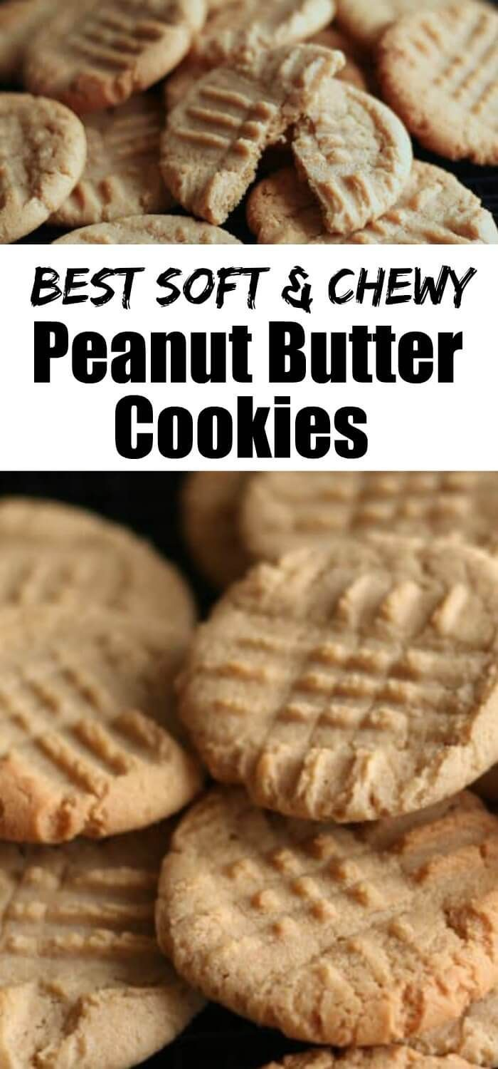 Soft And Chewy Peanut Butter Cookies This Is The Best Peanut Butter C Chewy Peanut Butter Cookies Chewy Peanut Butter Cookie Recipe Soft Peanut Butter Cookies
