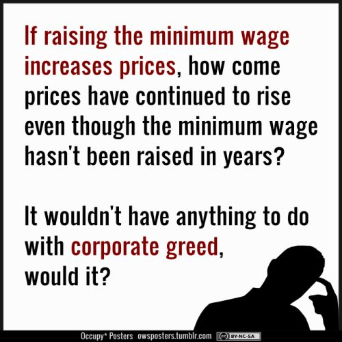 RAISE the minimum wage! AND how about cutting insane executive pay?!?