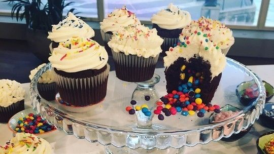 Juliet Sear's chocolate piñata cupcakes