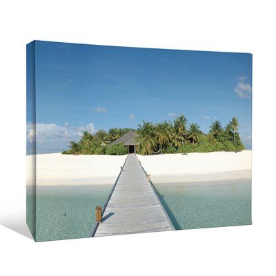 JP London CNV2167 Boardwalk Bridge to Tropical Island Beach Cottage Canvas Art