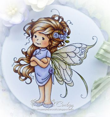 Sylvia Zet: Summer Fairy card by Hazel