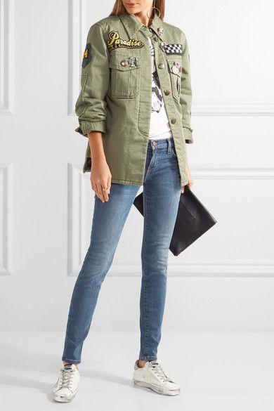 Current/Elliott - The Ankle Mid-rise Skinny Jeans - Mid denim - 26