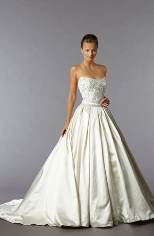 Sweetheart Princess/Ball Gown Wedding Dress  with Natural Waist in Satin. Bridal Gown Style Number:32892531