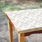 28.18 sq. ft. Grey Chevron Stripe Peel and Stick Wallpaper