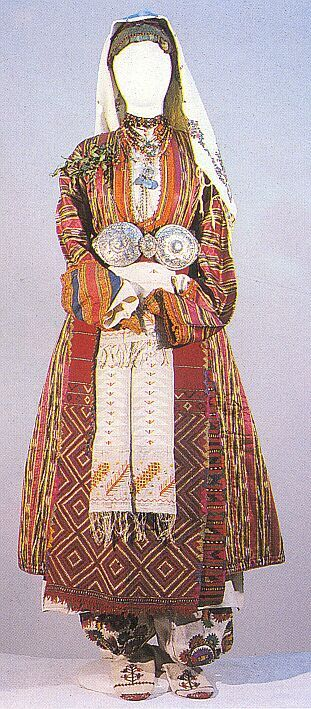 Young married woman's festive costume from the village of Satovcha, district of Gotse Delchev, second half of the 19th century  Bulgaria