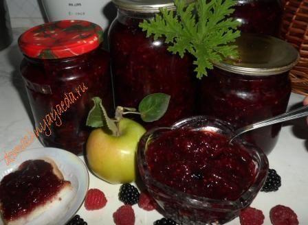 Варенье из малины и ежевики с добавлением зеленых яблок | 4vkusa.ru