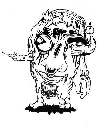 Gabriel Tiongson Goliath ink on paper © 2010