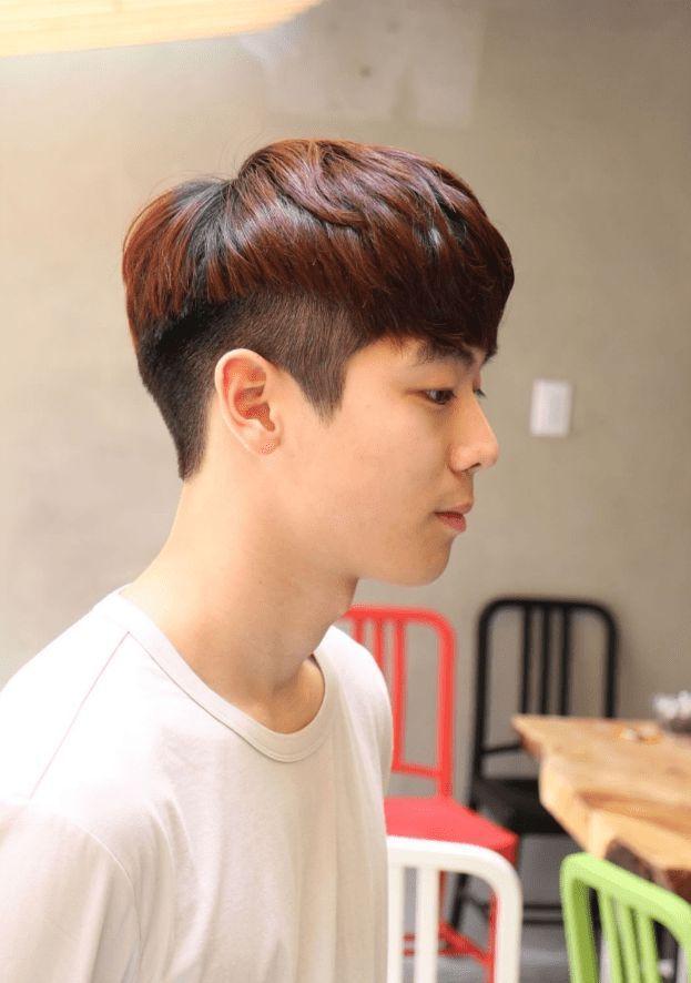 Korea Korean Kpop Idol Boy Band Group The Two Block Haircut Half Dyed Perm And Dye Hairstyle Guys Hairstyles Gaya Rambut Pria Potongan Rambut Pria Rambut Pria