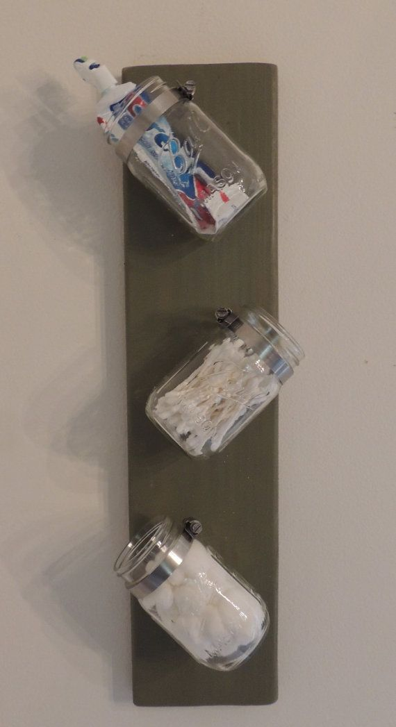 Mason Jar Wall Decor/Storage/Planter