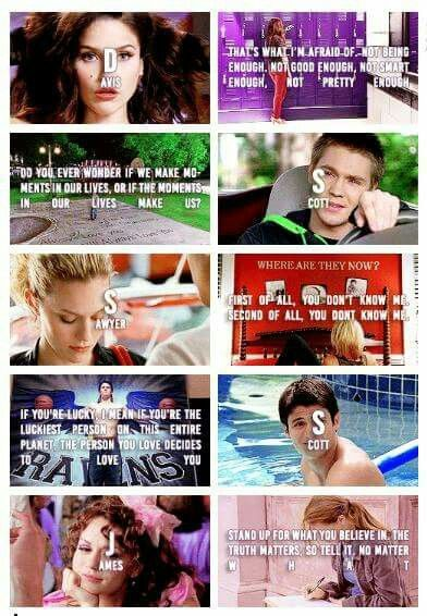 Nathan, Haley, Brooke, Lucas, and Peyton quotes