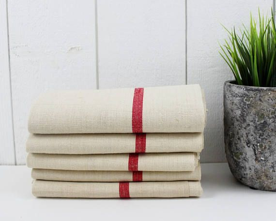 Farmhouse Tea Towels, Linen Napkins French Tea Towels, Farmhouse Napkins, Farmhouse Kitchen Towels, Linen Dinner Napkins, French Linen -E453