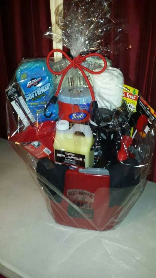 Car Care Gift Basket for him!!! www.facebook.com/crebugiftbaskets