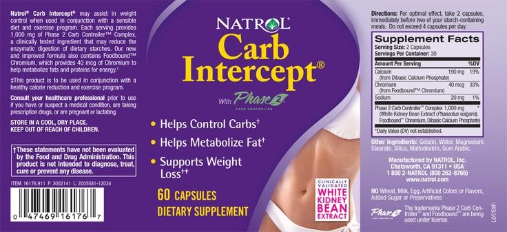 Natrol Carb Intercept Label
