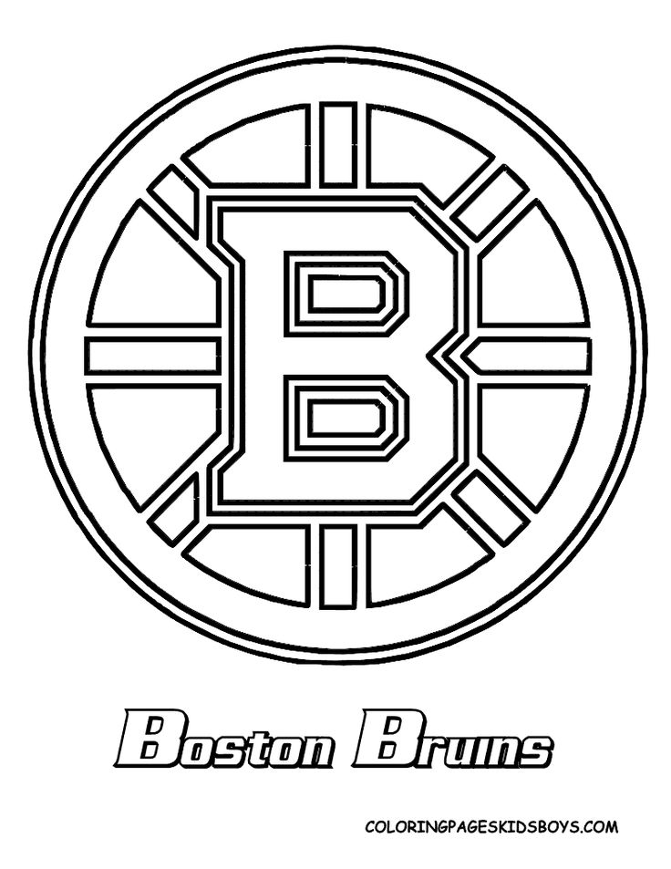 bruins coloring page Bruins and